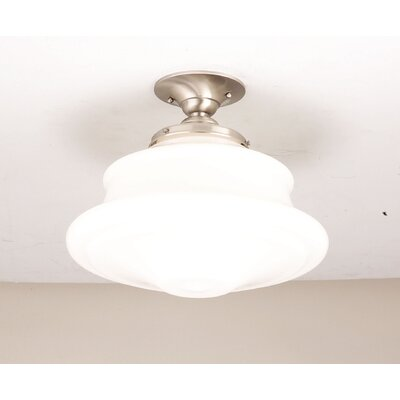 Miranda 1-Light Semi-Flush Mount Finish: Satin Nickel