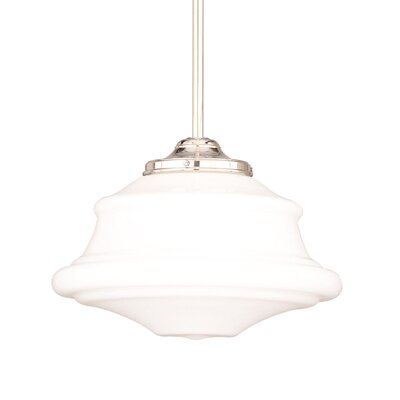Miranda 1-Light Glass Pendant Finish: Polished Nickel