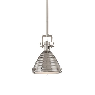 Dimas 1-Light Pendant Finish: Polished Nickel