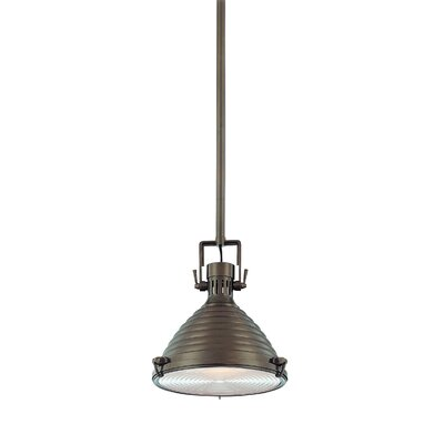 Dimas 1-Light Metal Pendant Finish: Historic Bronze