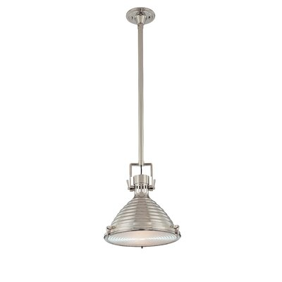 Dimas 1-Light Modern Pendant Finish: Polished Nickel