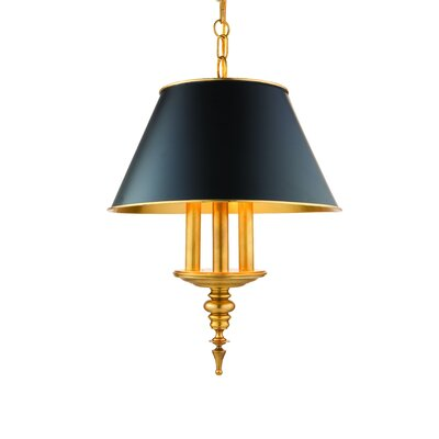 Moura 3-Light Kitchen Island Pendant Finish: Aged Brass