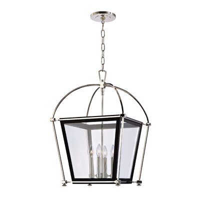 Kim 4-Light Foyer Pendant Finish: Polished Nickel