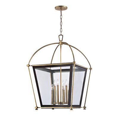 Hollis 8-Light Foyer Pendant Finish: Aged Brass