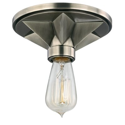 Merseles 1-Light Semi Flush Mount Finish: Aged Silver