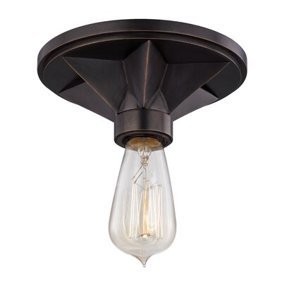 Merseles 1-Light Semi Flush Mount Finish: Old Bronze