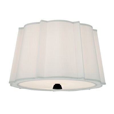 Menik 2-Light Semi Flush Mount Finish: Old Bronze