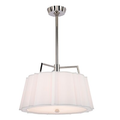 Menik 2-Light Drum Pendant Finish: Polished Nickel