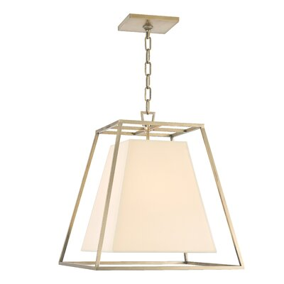 Casner 1-Light Foyer Pendant Finish: Aged Brass, Shade Color: White