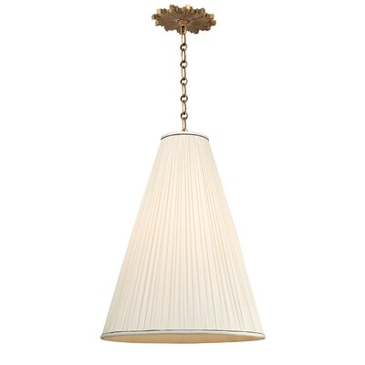 Austyn 1-Light Mini Pendant Finish: Aged Brass, Shade Color: Natural