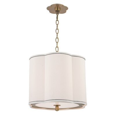 Sweeny 3-Light Drum Pendant Finish: Aged Brass