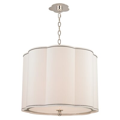 Sweeny 4-Light Drum Pendant Finish: Polished Nickel