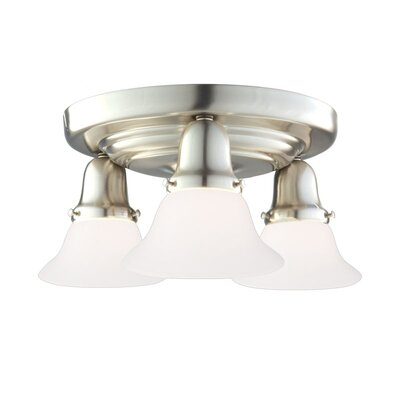Mckenna 3-Light Metal Semi-Flush Mount Finish: Polished Nickel