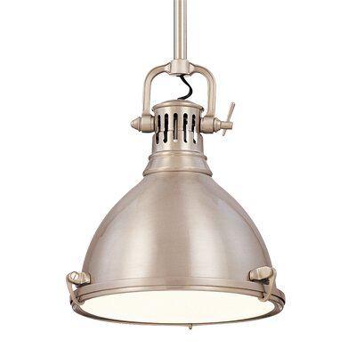 Argana 1-Light Mini Pendant Finish: Satin Nickel, Size: 8