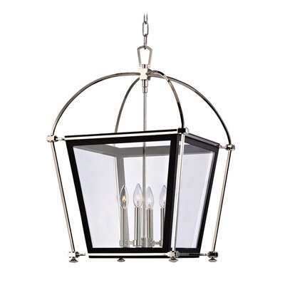 Kim 4-Light Foyer Pendant Finish: Aged Brass