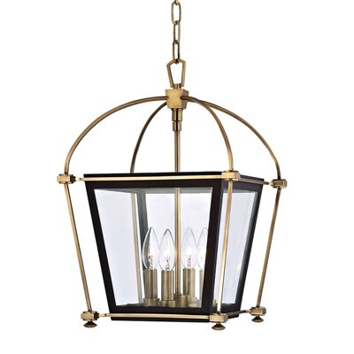 Kim 4-Light Metal Foyer Pendant Finish: Polished Nickel