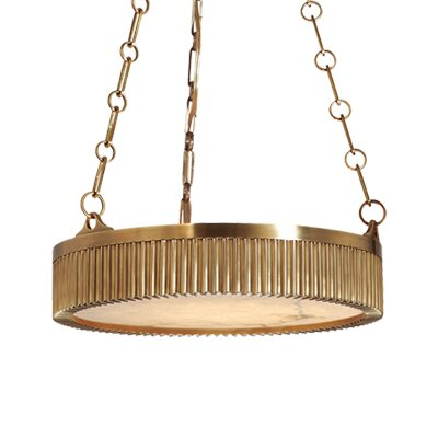 Lynden Drum Pendant Size / Finish: 16 / Distressed Bronze