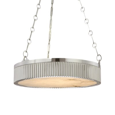 Lynden Drum Pendant Size / Finish: 16 / Polished Nickel