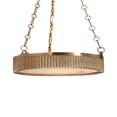 Lynden Drum Pendant Size / Finish: 22 / Aged Brass
