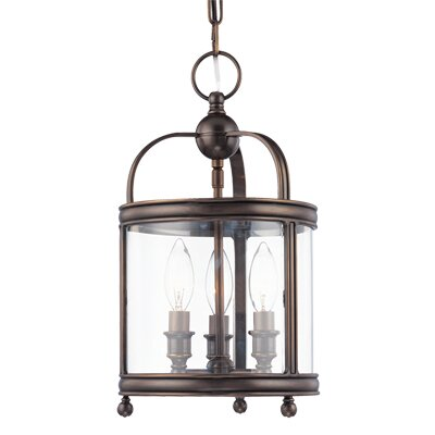 Elyria 3-Light Metal Foyer Pendant Finish: Aged Brass