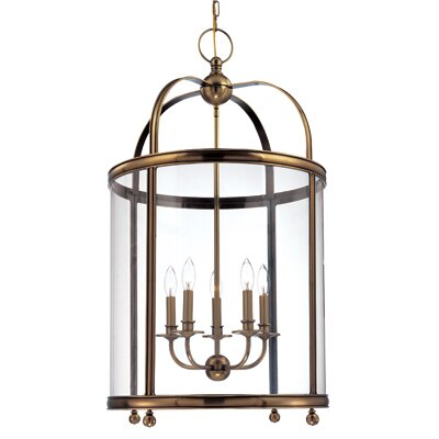Elyria 5-Light Foyer Pendant Finish: Distressed Bronze