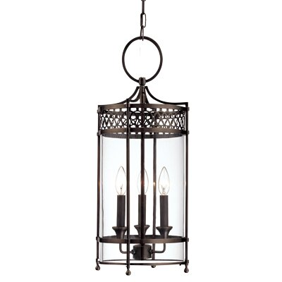 Emelia 3-Light Mini Foyer Pendant Finish: Antique Nickel
