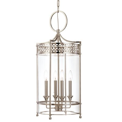 Emelia 4-Light Foyer Pendant Finish: Antique Nickel