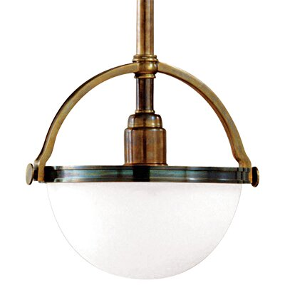Letson 1-Light Mini Pendant Finish: Historic Bronze, Size: 17 - 65 H x 10 W