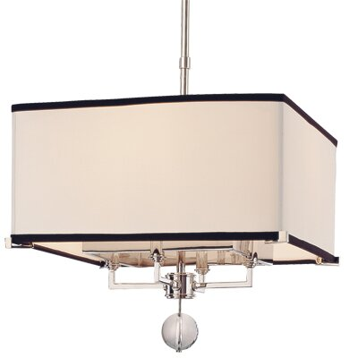 Emsley 4-Light Drum Pendant Size / Finish: 21 x 24 / Old Bronze