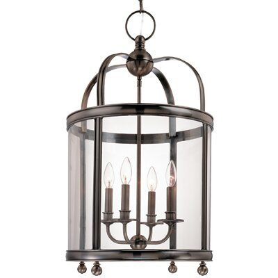 Elyria 4-Light Foyer Pendant Finish: Aged Brass