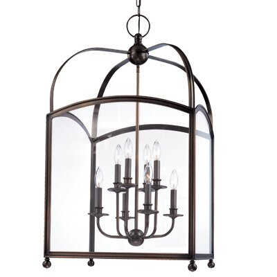 Natalia 8-Light Foyer Pendant Finish: Aged Brass