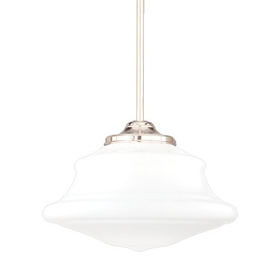 Miranda 1-Light Metal Pendant Finish: Polished Nickel