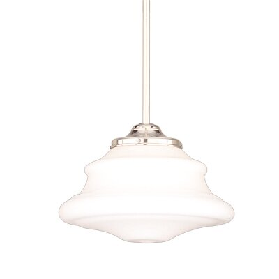 Petersburg 1-Light Pendant Finish: Polished Nickel