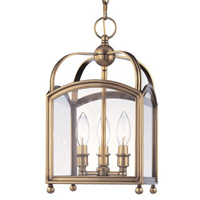 Natalia 3-Light Foyer Pendant Finish: Historic Nickel