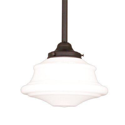 Miranda 1-Light Glass Pendant Finish: Old Bronze