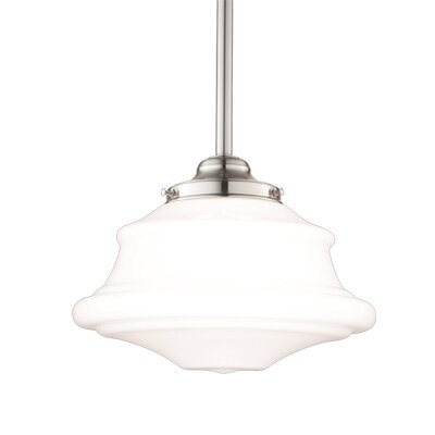 Miranda 1-Light Glass Pendant Finish: Satin Nickel