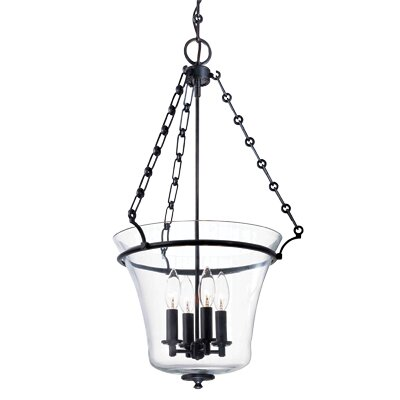 Estelle 4-Light Foyer Pendant Finish: Aged Brass, Size: 28H x 15.75W