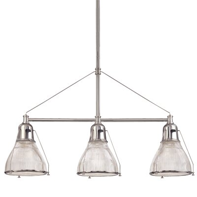 Margo 3-Light Kitchen Island Pendant Finish: Satin Nickel