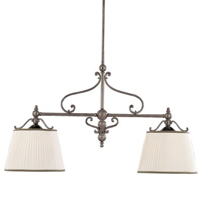 Branch 2-Light Kitchen Island Pendant Finish: Historic Nickel