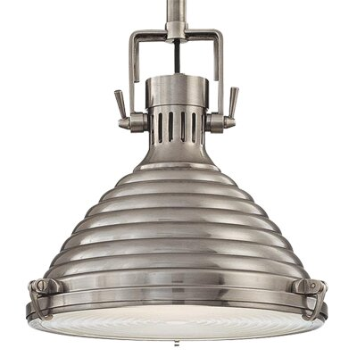 Dimas 1-Light Modern Pendant Finish: Antique Nickel