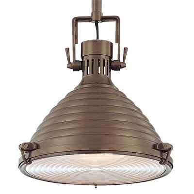 Dimas 1-Light Modern Pendant Finish: Historic Bronze