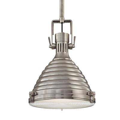 Dimas 1-Light Pendant Finish: Antique Nickel