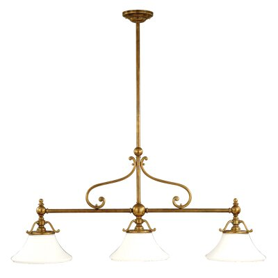 Branch 3-Light Kitchen Island Pendant Finish: Historic Bronze