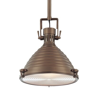 Dimas 1-Light Pendant Finish: Historic Bronze