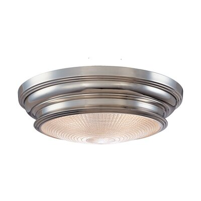 Ellyn 2-Light Flush Mount Finish: Satin Nickel, Size: 5H x 20W