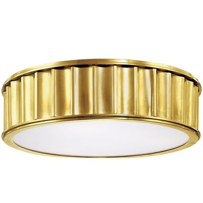Middlebury 2-Light Flush Mount Finish: Aged Brass, Size: 4H x 13W