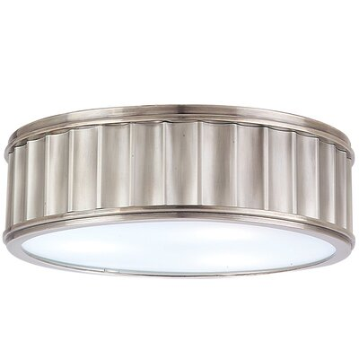 Middlebury 2-Light Circular Flush Mount Finish: Historic Nickel, Size: 4H x 13W
