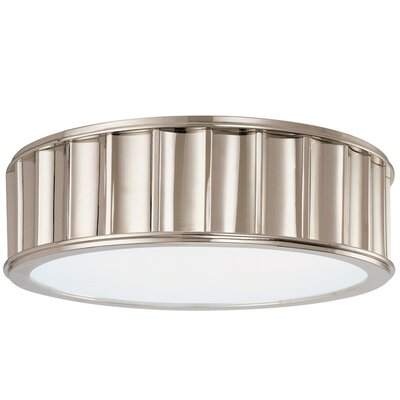Middlebury 2-Light Flush Mount Finish: Polished Nickel, Size: 4H x 13W