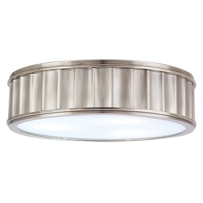 Middlebury 2-Light Flush Mount Finish: Historic Nickel, Size: 4H x 16W