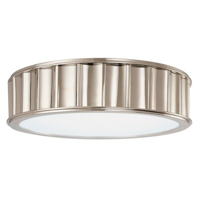 Middlebury 2-Light Flush Mount Finish: Polished Nickel, Size: 4H x 16W